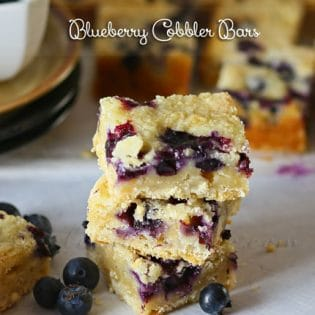 Blueberry Cobbler Bar recipe at TidyMom.net