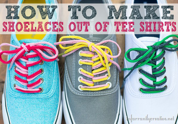 How to Make Shoelaces out of Tee Shirts