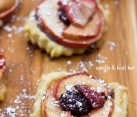 Delicious and incredibly easy to make! Nutella and Fruit Tart recipe from Sweet C's Designs at TidyMom.net