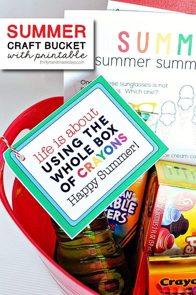 summer craft bucket + printable | spark your summer