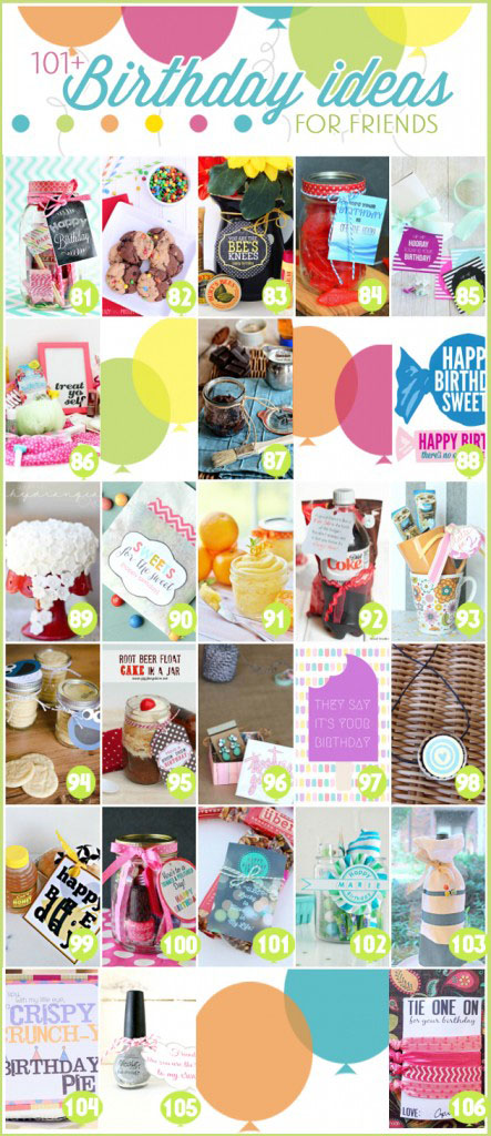 101+ Birthday Gift Ideas for Friends Blog Hop at TidyMom.net