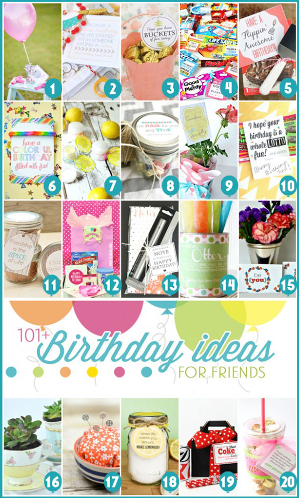 101+ Birthday Gift Ideas for Friends at TidyMom.net