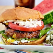 Orange and Fig Glazed Grilled Turkey Burger with Creamed Feta recipe at TidyMom.net #Turketarian