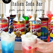 Make Italian Sodas at your next party with an Italian Soda Bar! details at TidyMom.net