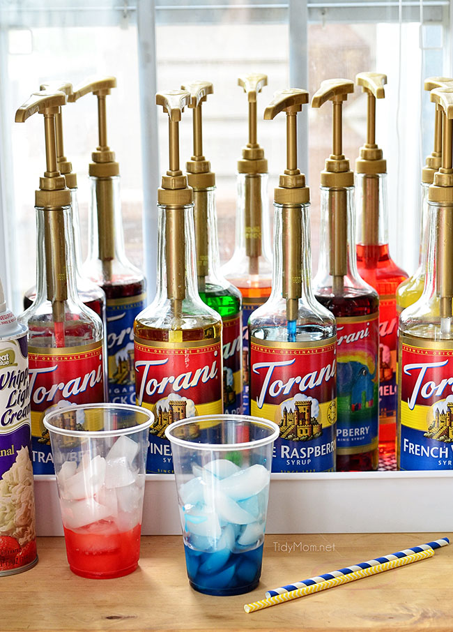 Serve Italian Sodas at your next party with an Italian Soda Bar! details at TidyMom.net