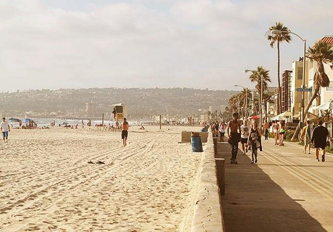 Mission Beach California boardwalk