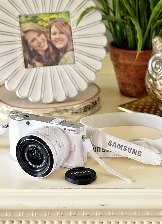 Samsung NX300 camera with built in wifi to share instantly. Enter to WIN at TidyMom.net