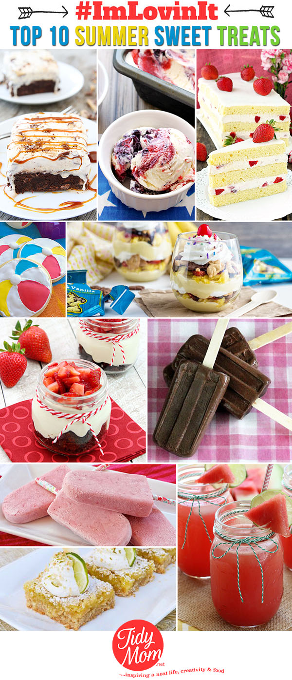 Top 10 Summer Sweet Treats at TidyMom.net #ImLovinIt