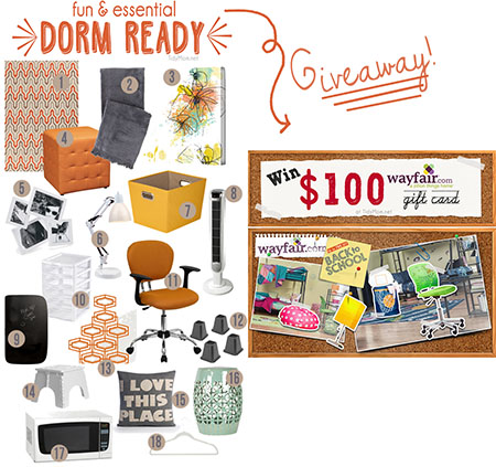 Get Dorm Room Ready with these fun and essential items. Details and giveaway at TidyMom.net