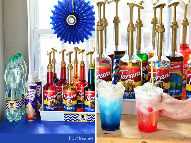 Have fun with an Italian Soda Bar at your next party! details at TidyMom.net