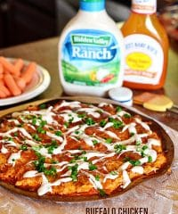 Buffalo Chicken Pizza at TidyMom.net