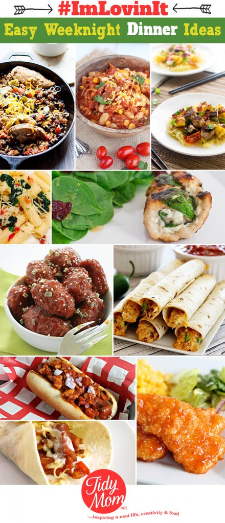 10 Easy Weeknight Dinner Ideas at TidyMom.net #ImLovinIt