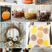 10 Fabulous & Easy Fall Craft tutorials at TidyMom.net