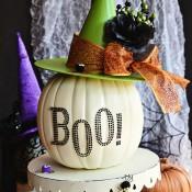 Easy Halloween Witch Pumpkin Craft at TidyMom.net