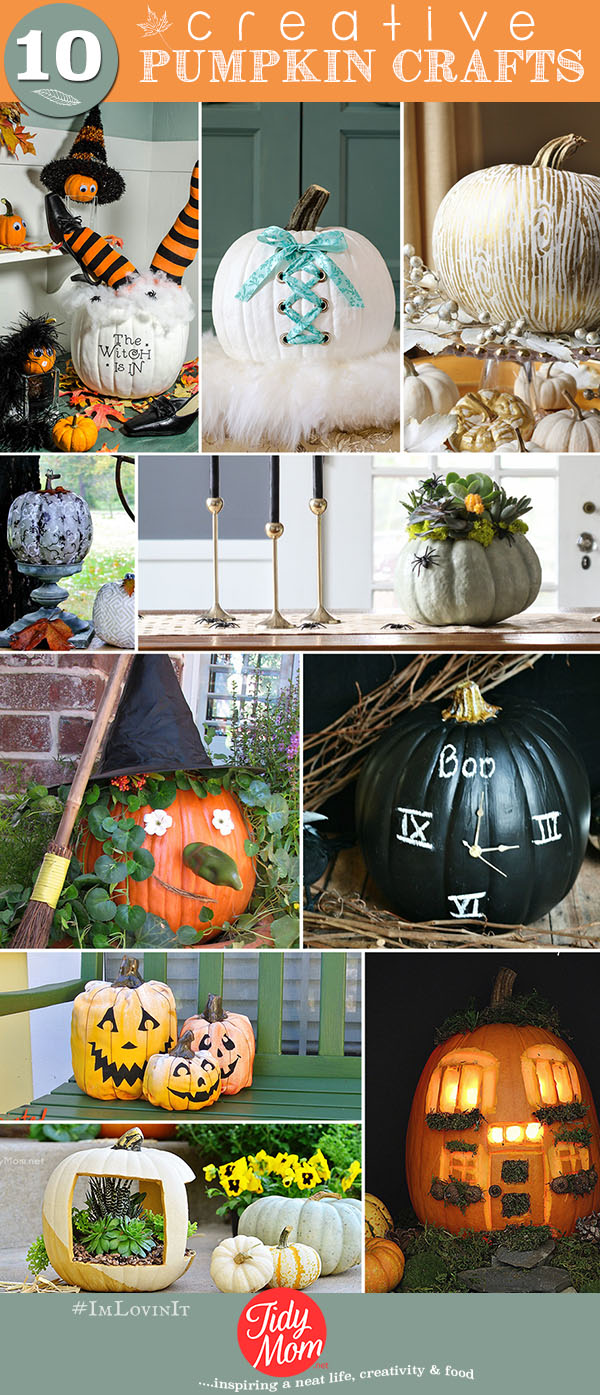 10 Creative Pumpkin Crafts at TidyMom.net