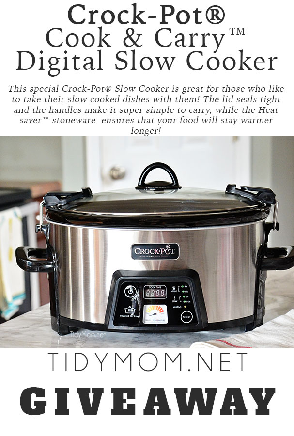 Crock-Pot® Slow Cooker with locking lid and insulated for travel. at TidyMom.net