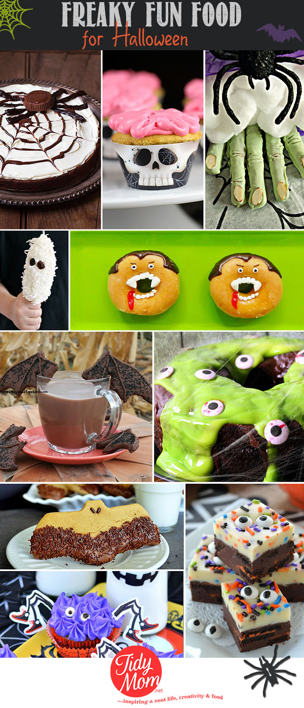 Freaky Fun Food Ideas to make for Halloween at TidyMom.net