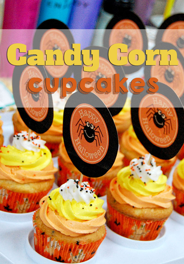 How to make Candy Corn Cupcakes with buttercream frosting recipe