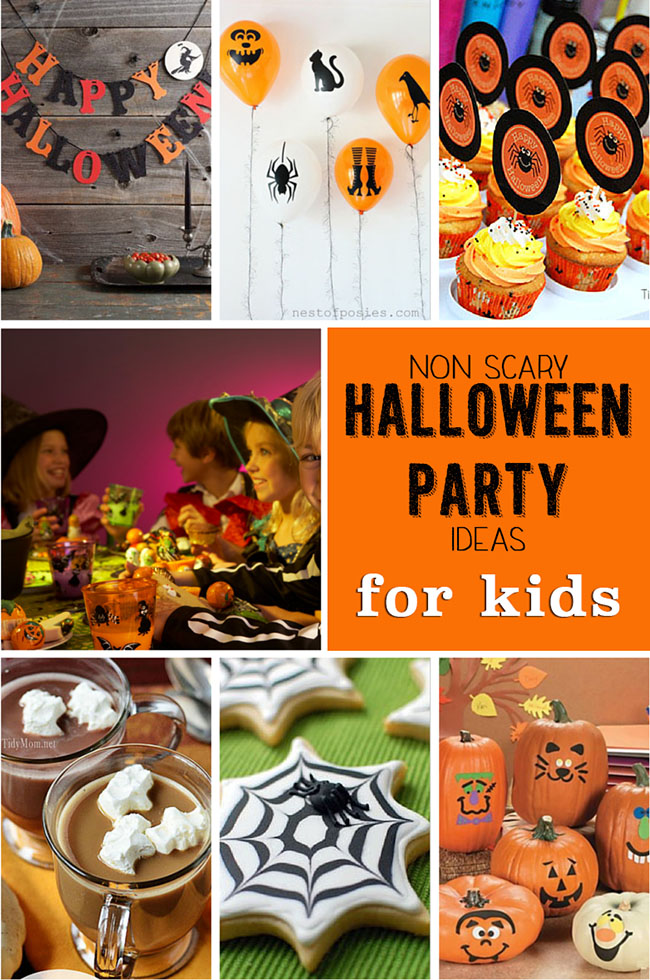 Non-scary Halloween Party Ideas for kids