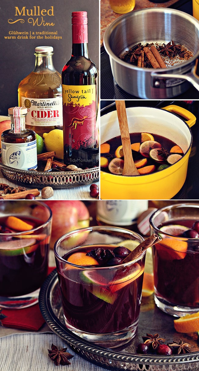 Mulled Wine or Glühwein is a warm winter German version of s..
