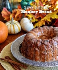 Pumpkin Cheesecake Monkey Bread recipe at TidyMom.net