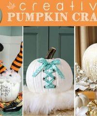 10 Creative Pumpkin Crafts featured at TidyMom.net