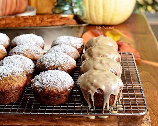 Get this classic pumpkin muffin recipe at TidyMom.net