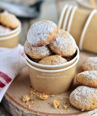 Fluffy and dreamy Peanut Butter Gooey Butter Cookies - recipe at TidyMom.net