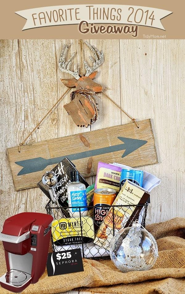 Favorite Things Giveaway basket at TidyMom.net