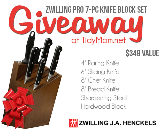 ZWILLING J.A. Henckels PRO KNIFE 7-pc Block Set Giveaway at TidyMom.net