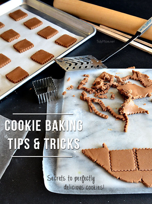 Improve the odds of having your cookies turn out great every time with these Cookie Baking Secrets I've shared over the year for perfectly delicious cookies. at TidyMom.net