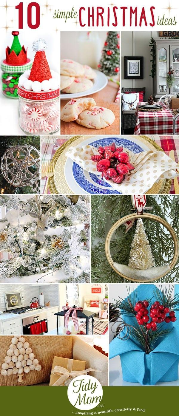 10 Simple Christmas Ideas at TidyMom.net