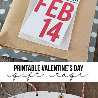 Printable Valentine Gift Tags are the perfect way to add a little fun to your Valentine's Day gift giving -- from a bag of sweets to a lovely journal. DOWNLOAD FREE at TidyMom.net