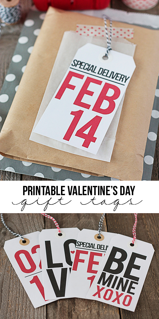 Printable Valentine's Day Gift Tags by Tidy Mom