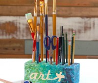 organize your pencils, pens and art materials with these DIY Creative Blocks. Tutorial by Pretty Handy Girl for TidyMom.net