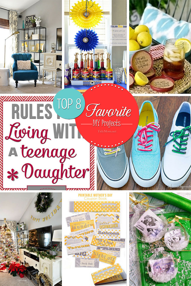 Top 8 Favorite DIY projects at TidyMom.net