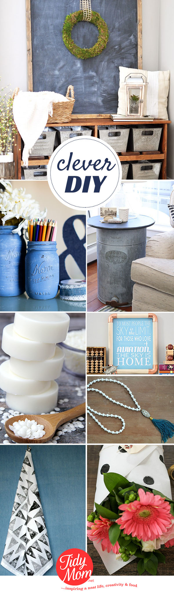 Clever DIYs that go from ordinary objects to extraordinary projects at TidyMom.net