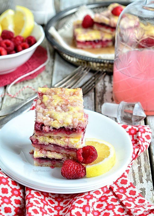 Raspberry Lemonade Bars image