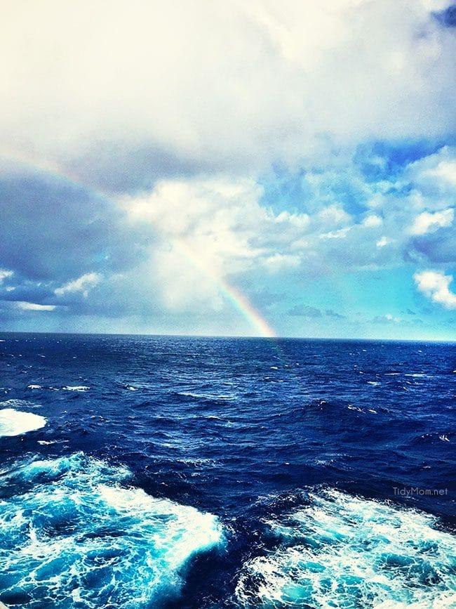 Ocean rainbow onboard Royal Caribbean Oasis of the Seas