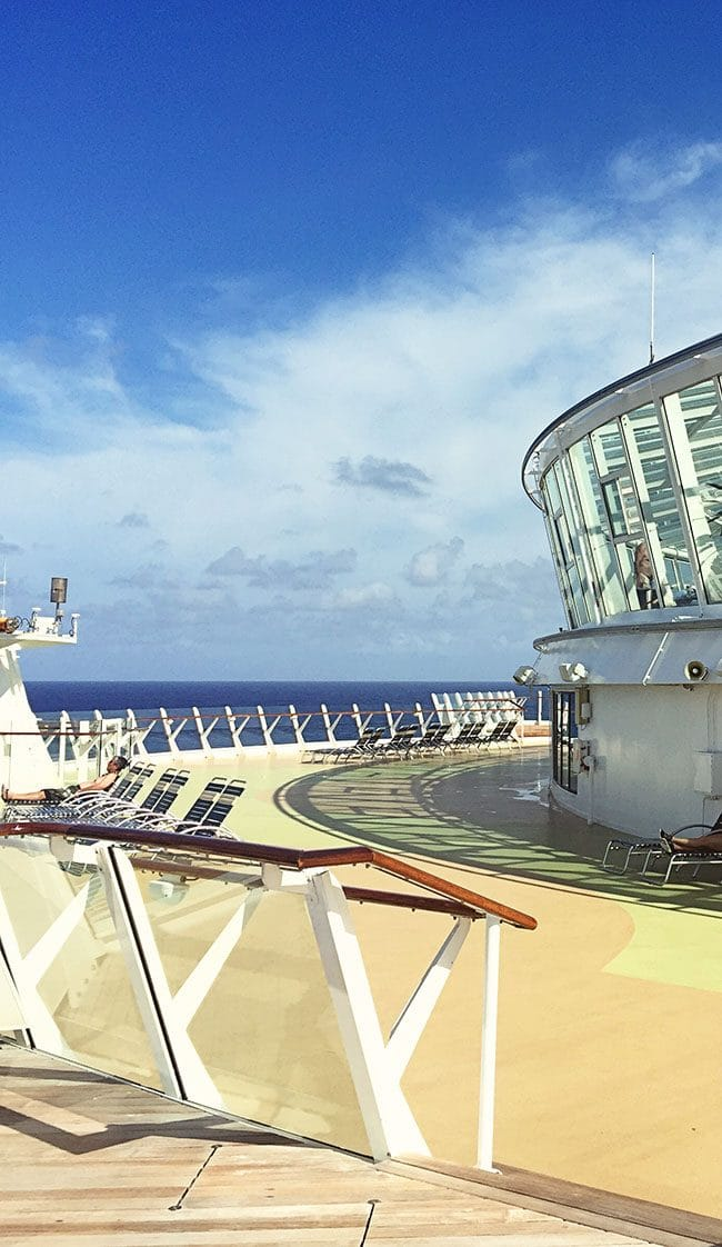 Royal Caribbean Oasis of the Seas cruise ship quiet spot