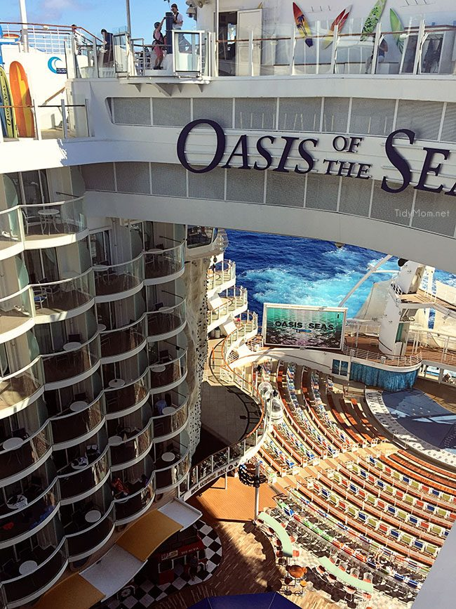 Aquatheater onboard Royal Caribbean Oasis of the Seas cruise ship. image