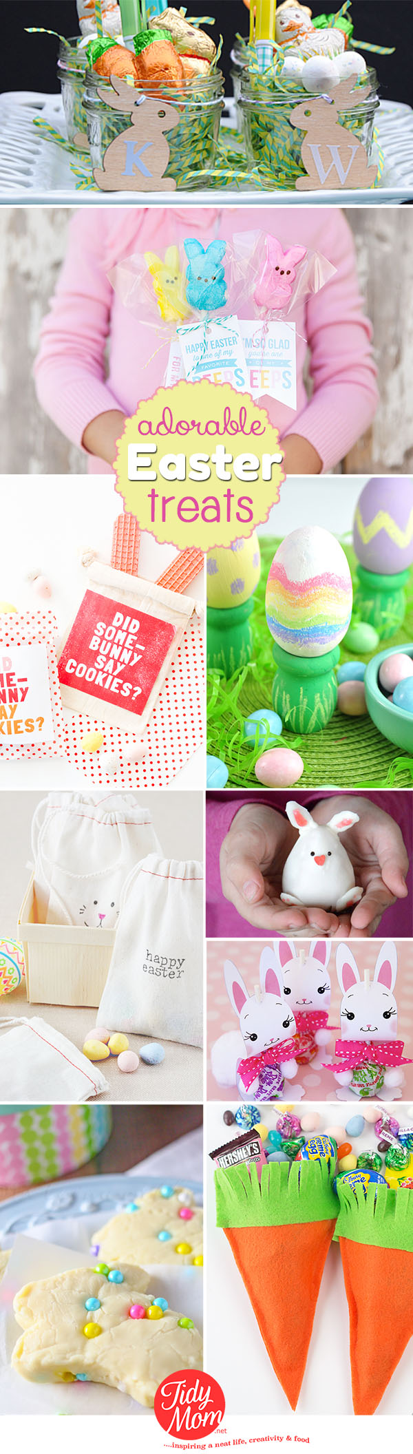 Adorable Easter treats and gift ideas to make at TidyMom.net