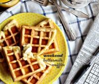 Our Favorite Weekend Buttermilk Waffles recipe at TidyMom.net