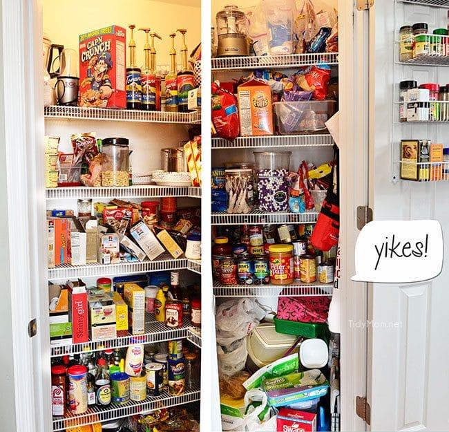 Messy, disorganized pantry