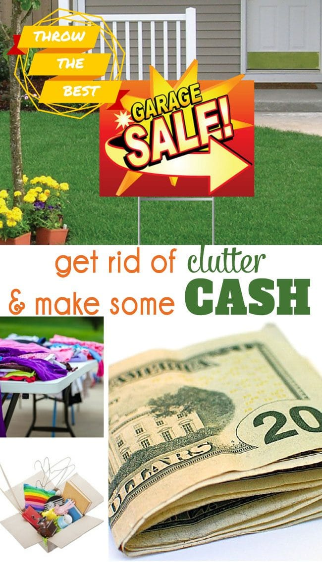 Learn how to throw the BEST GARAGE SALE - get rid of clutter and make some cash!