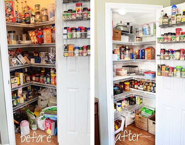 Real Life Pantry Organization | TidyMom