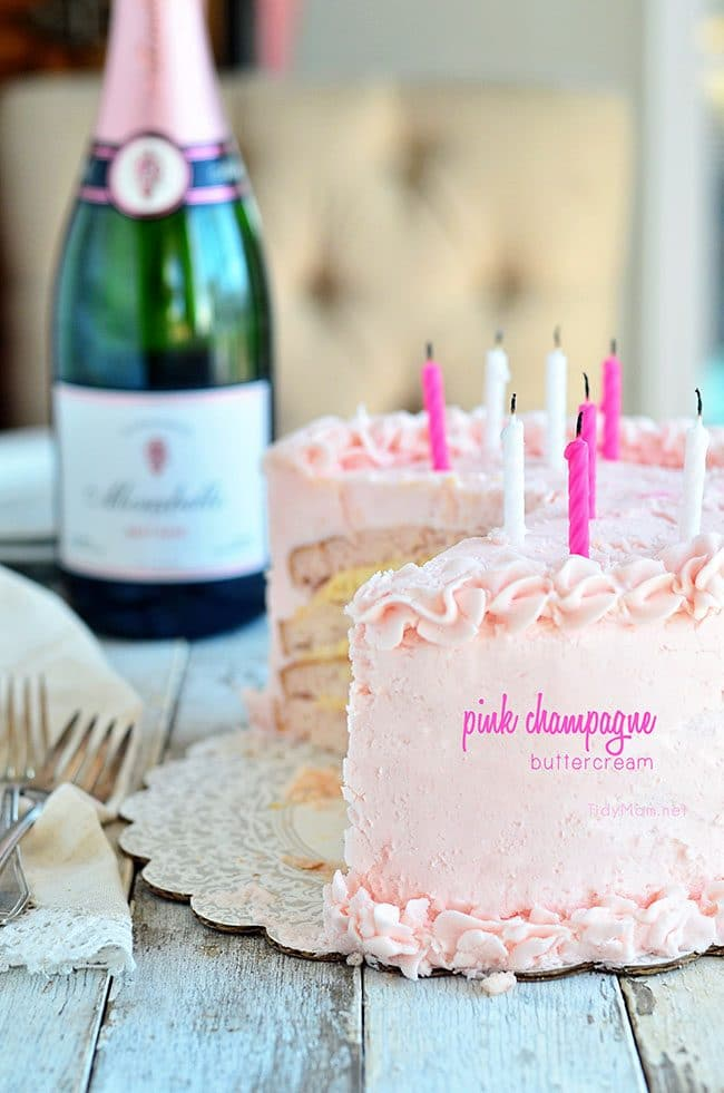 Pink Champagne Buttercream recipe at TidyMom.net