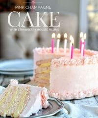 Excuisite Pink Champagne Cake with Strawberry Mousse Filling and Pink Champagne Buttercream recipe at TidyMom.net