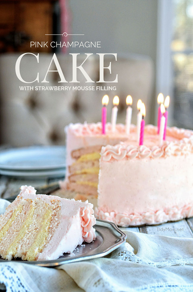 Images Of Birthday Cake And Champagne : Pink Champagne Buttercream Birthday Cake TidyMom