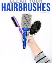 How to clean your hairbrushes and keep your hair healthy at TidyMom.net